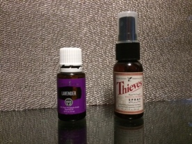Lavender oil and Thieves spray